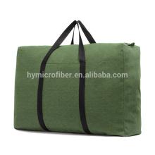 Forte charge portant grand sac fourre-tout en toile épaisse à glissière