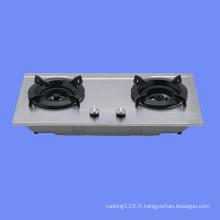 1 ~ 5 brûleurs table de cuisson à gaz en fonte avec émail
