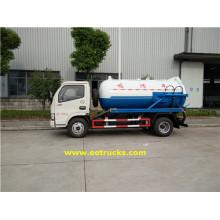 700 galones 130HP Vacío camiones de succión de aguas residuales