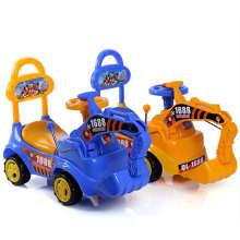 Excavatrice enfant à quatre roues colorées de bonne qualité