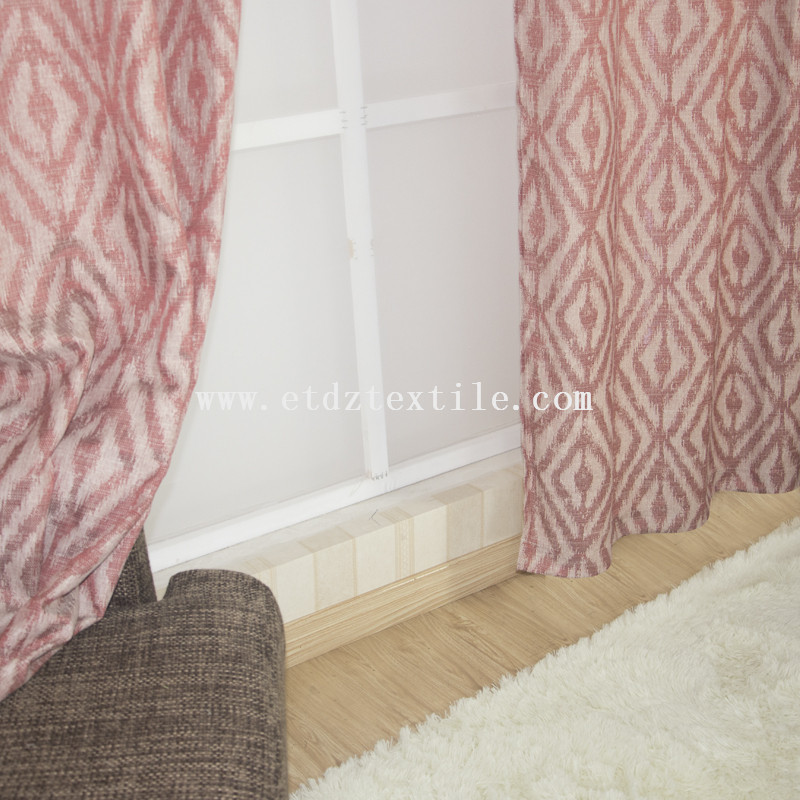 Polyester piece dyed cantonic curtain 6002