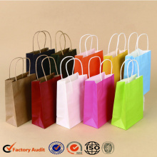 Gift Paper Bag With Green Hot Stamping Wholesale
