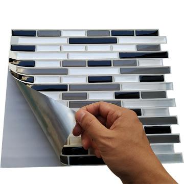 Schälen Sie wasserdichte Mosaik Vinyl Wallpaper Wandfliesen 3d