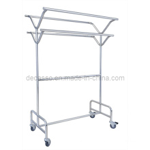 Mobile Stainless Steel Clothes Hanger/ Laundry Cart (DD24)