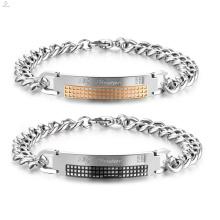 Cheap Silver Relationship Matching Bracelets diseño de pareja