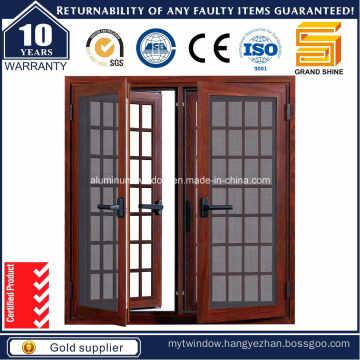 Aluminium/Aluminum Tilt and Turn Window with Built-in Shutters