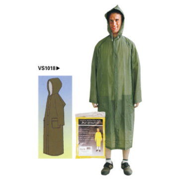 Promosi Reusable Waterproof Raincoat PVC Berkualitas Tinggi