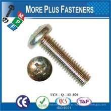 Made in Taiwan DIN 7985 Recessed Raised Cheese Head Screw