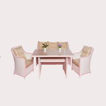 Tuin meubels/rattan eettafel en stoelen