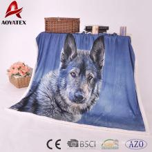 cobertor macio da tela do micromink do luxuoso da promoção do sherpa 100% do poliéster