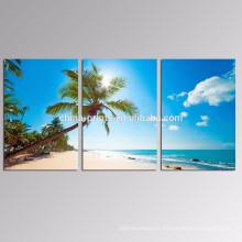 Impresión de la lona del paisaje marino Arte / decoración casera Arte de la lona Playa / palmera Venta al por mayor lona estirada