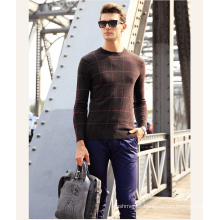 Men′s Cashmere Sweater with Round Neck Patterned 16brdm009-1