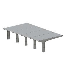 Système d'alimentation solaire commercial Carport en acier au carbone sur la grille