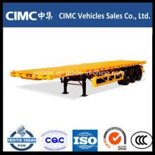 Cimc Tri-Axle 40′ Flatbed Semi Trailer / Container Trailer