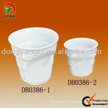 Conjunto personalizado de taza de café espresso de porcelana