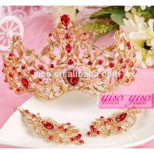 Coroas de strass de casamento da moda coroas por atacado