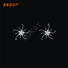 Bauhinia blomma Tailless Cheer Bow Heat Rhinestone Motif