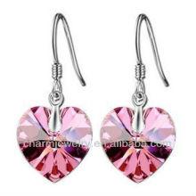 Boucles d'oreilles en cristal en forme de coeur en forme de coeur pour femmes SE-001C