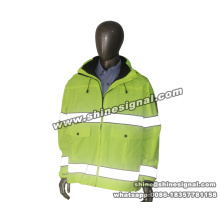 High Visibility Reflective Safety Protective Winter Work Parka Jacket