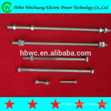double arm bolt for transmission line fitting