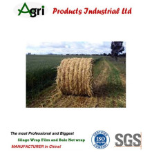 Plastic hay baler twine for wrapping