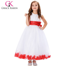 Grace Karin Sleeveless Flower Decorated Flower Girl Princess Party Dress 2~12 Years CL008936-1
