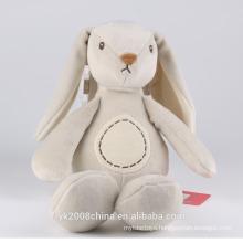 custom stuffed rabbit pattern long ears plush white rabbit toy