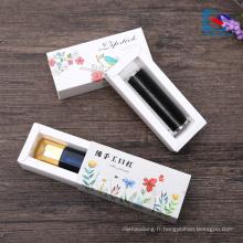 boîte de tiroir de rouge à lèvres imprimé par logo fait sur commande pour la boîte cosmétique d'emballage