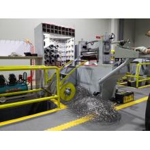 Precision metal guardrail split slitting machine