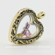 Personalizado em aço inoxidável coração pingente jóias Locket para decoração