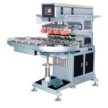 Transportador grande almohadilla impresión máquina 4 Color