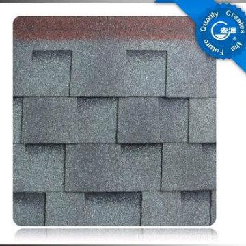 Lamellierter Asphalt-Dach-Schindel / selbstklebendes buntes Fiberglas-Dachplatte- / Bitumen-Dachdeckungs-Material mit ISO (12 Farben)