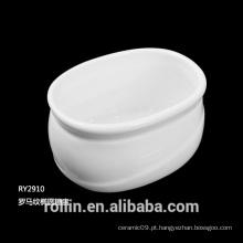 Porcelana fina porcelana branca Sugar Sachet Basin, Porcelain Sugar Basin