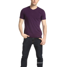 Men′s Fitness Promotion V Neck Plain T Shirt