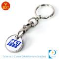 Custom Printed Logo Trolley Token Coin Keychain (KD284)