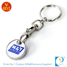 Custom Printed Logo Trolley Token Coin Keychain (KD284)