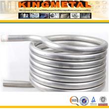 ASTM B338 Gr. 2 Tubo de bobina de intercambiador de calor de acero de titanio