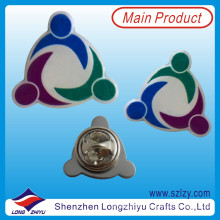 Pin de solapa de logotipo de impresión de color sólido metal con epoxi (LZY-10000208)