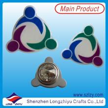 Металла сплошной Цвет печать логотип pin отворотом с эпоксидной смолой (LZY-10000208)
