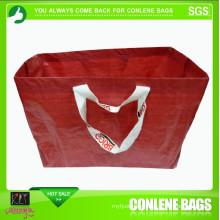 PE Woven Red Ikea Bag (KLY-PE-0010)