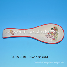 2015 new arrival monkey design ceramic spoon for wholesale