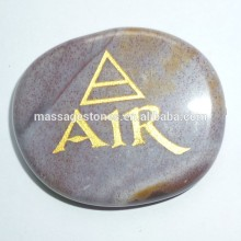 Engraved chakra agate stone for Body Jewelry Gifts