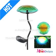 Luz solar personalizada do jardim da placa da luz do cogumelo do metal
