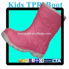 JX-916R colorful TPR kids rain boots waterproof warm boots
