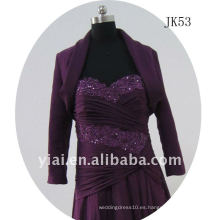 JK53 mujeres Beaded chaqueta de boda de manga larga