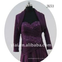 JK53 женщин из бисера с длинным рукавом свадебное куртка