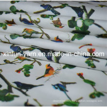 Pinted Flower Satin Art Textile Satin for Classic Beutiful Dress