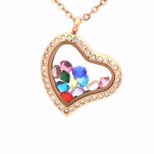 Charms parts free samples floating locket pendant necklace jewelry