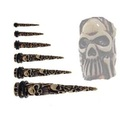 Skull Relief Skeleton Acrylic Extender Ear Taper