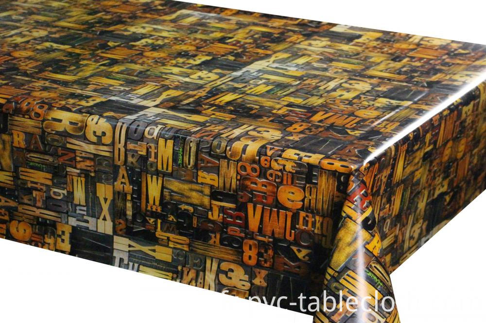 Vinyl Tablecloth Laminated with Nonwoven